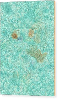 Ah, - #ss16dw011 Wood Print by Satomi Sugimoto