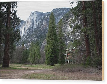 Ahwahnee Setting Wood Print