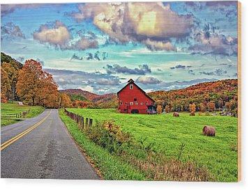 Ah...west Virginia Wood Print by Steve Harrington