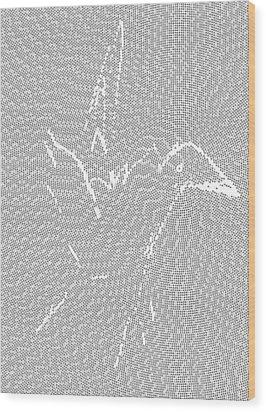 Aibird Wood Print by Robert Thalmeier