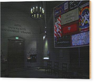 Aids Interfaith Memorial Chapel - San Francisco Wood Print by Daniel Hagerman