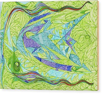 Aigikampos Wood Print by Robert Nickologianis