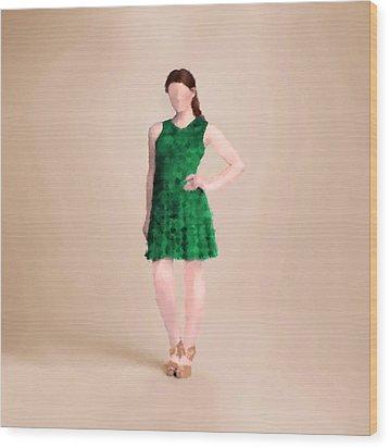 Wood Print featuring the digital art Ainsley by Nancy Levan