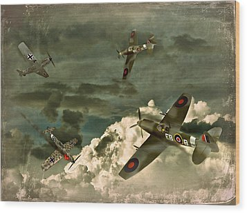 Air Attack Wood Print
