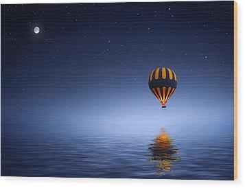 Wood Print featuring the photograph Air Ballon by Bess Hamiti