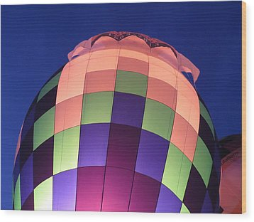Air Balloon Wood Print