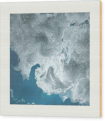 Wood Print featuring the digital art AIR by David Klaboe
