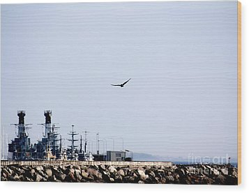 Air Force At The Navy Wood Print by Toon De Zwart
