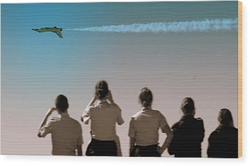 Wood Print featuring the photograph Air Force In Force by Karen Musick