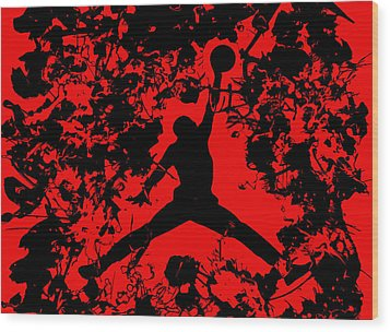 Air Jordan 1b Wood Print by Brian Reaves