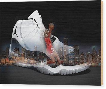 Air Jordan Chicago Wood Print