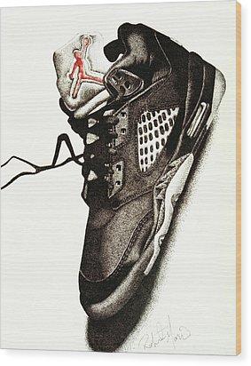Air Jordan Wood Print