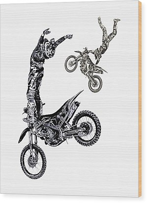 Air Riders Wood Print by Caitlyn Grasso