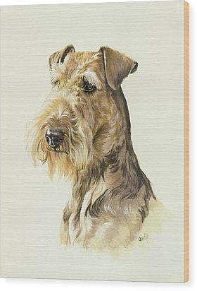 Airedale Wood Print by Barbara Keith