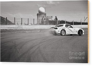 Airfield Drifting Wood Print by Andy Smy