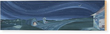 Wood Print featuring the painting Airport Cafe Vi by Scott Kirby