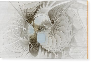 Airy Space2 Wood Print by Karin Kuhlmann