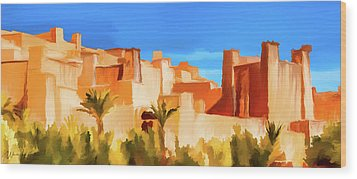 Ait Benhaddou Morocco Wood Print by Wally Hampton