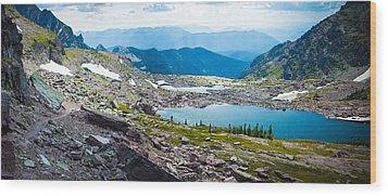 Akaiyan Lake Wood Print