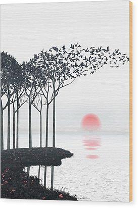 Aki Wood Print by Cynthia Decker