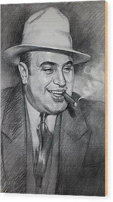 Al Capone  Wood Print by Ylli Haruni