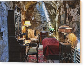Al Capone's Cell - Scarface - Eastern State Penitentiary Wood Print by Paul Ward