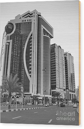 Al Durrah Tower - Sharjah Wood Print by Hussein Kefel