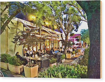 Wood Print featuring the photograph Al Fresco Dining by Chuck Staley