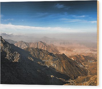 Al Hada Road In Taif Wood Print by Graham Taylor