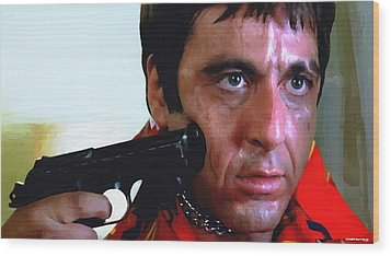 Al Pacino @ Scarface #1 Wood Print by Gabriel T Toro