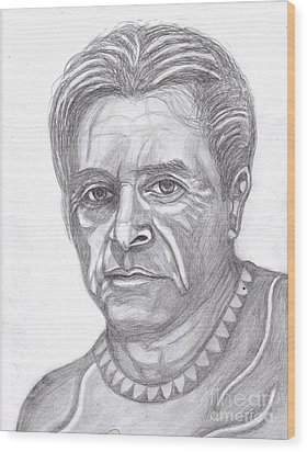 Al Pacino Wood Print by Richard Heyman