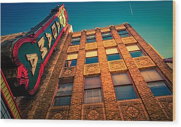 Alabama Theater Sign 2 Wood Print by Phillip Burrow