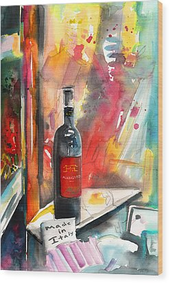 Alabastro Wine From Italy Wood Print by Miki De Goodaboom