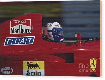 Alain Prost. 1990 French Grand Prix Wood Print