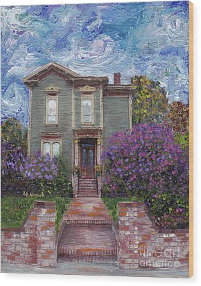 Wood Print featuring the painting Alameda 1888 - Italianate by Linda Weinstock