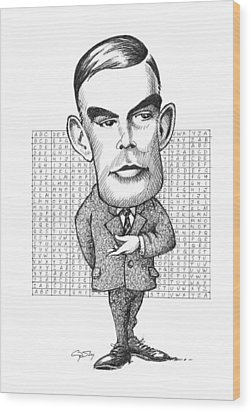 Alan Turing, British Mathematician Wood Print by Gary Brown