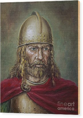 Alaric The Visigoth Wood Print by Arturas Slapsys