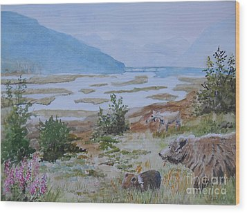 Alaska - Denali 2 Wood Print by Christine Lathrop