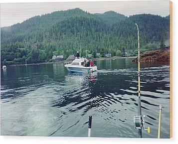 Wood Print featuring the photograph Alaska Fishing by Judyann Matthews