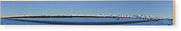 Alaska Highway Panorama Wood Print