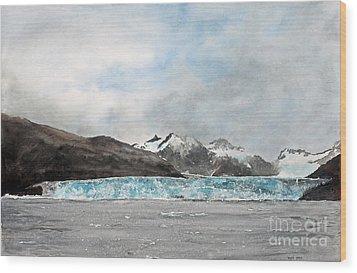 Alaska Ice Wood Print by Monte Toon