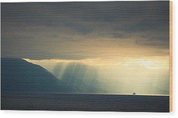 Alaska Inside Passage Under The Clouds Wood Print