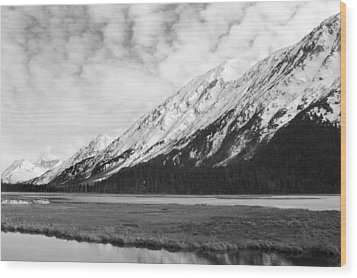 Alaska Mountains Wood Print by Ty Nichols