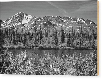 Alaska Mountains Wood Print by Zawhaus Photography