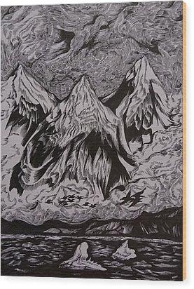 Alaska Song Wood Print by Anna  Duyunova