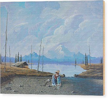 Wood Print featuring the painting Alaskan Atm by Richard Faulkner