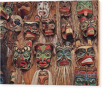 Alaskan Masks Wood Print