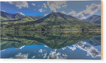 Alaskan Reflections Wood Print by Don Mennig