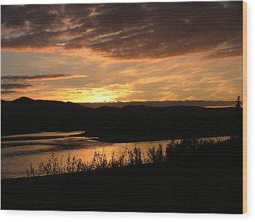 Wood Print featuring the photograph Alaskan Sunset by Adam Owen