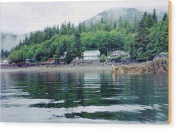 Alaskan Village Wood Print by Judyann Matthews